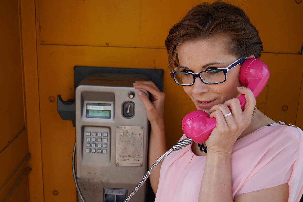 teléfono, mujer, belleza