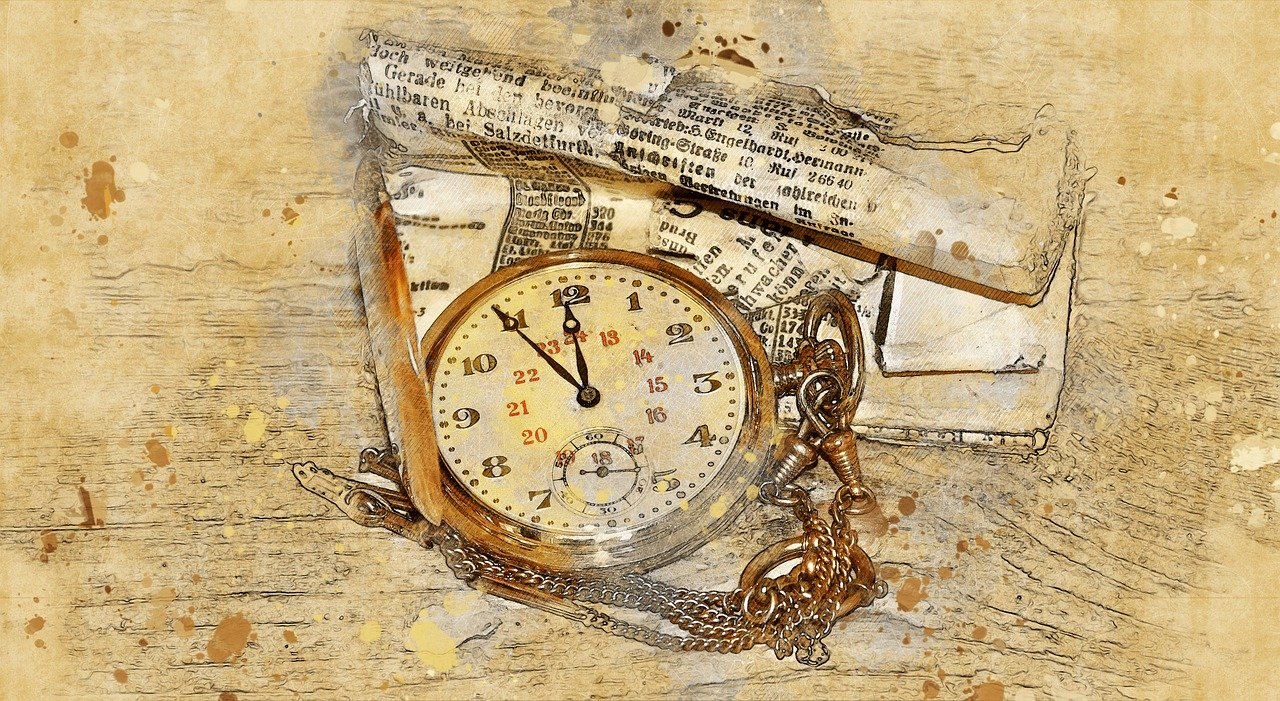 reloj de bolsillo, reloj, oro