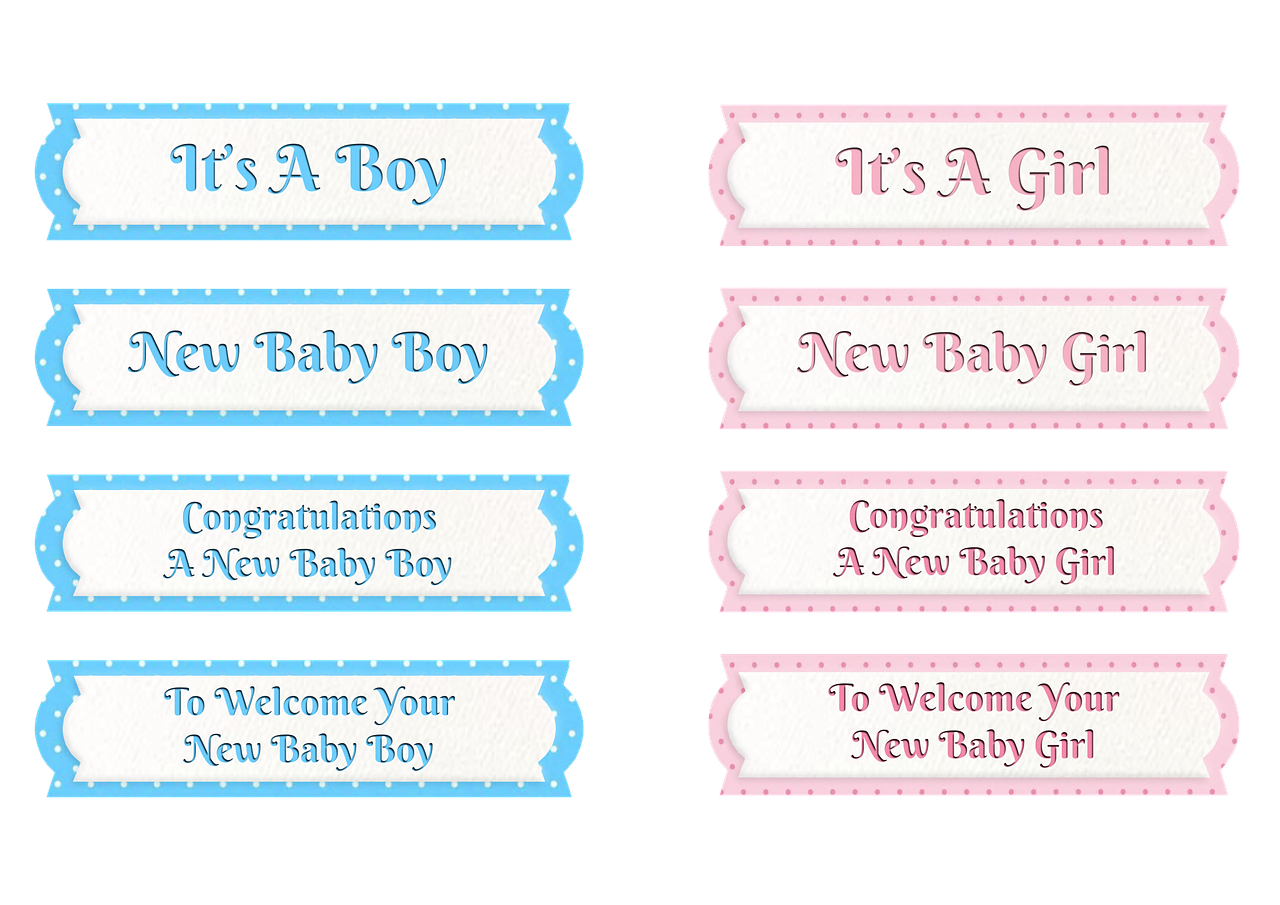 baby boy, niña, etiquetas