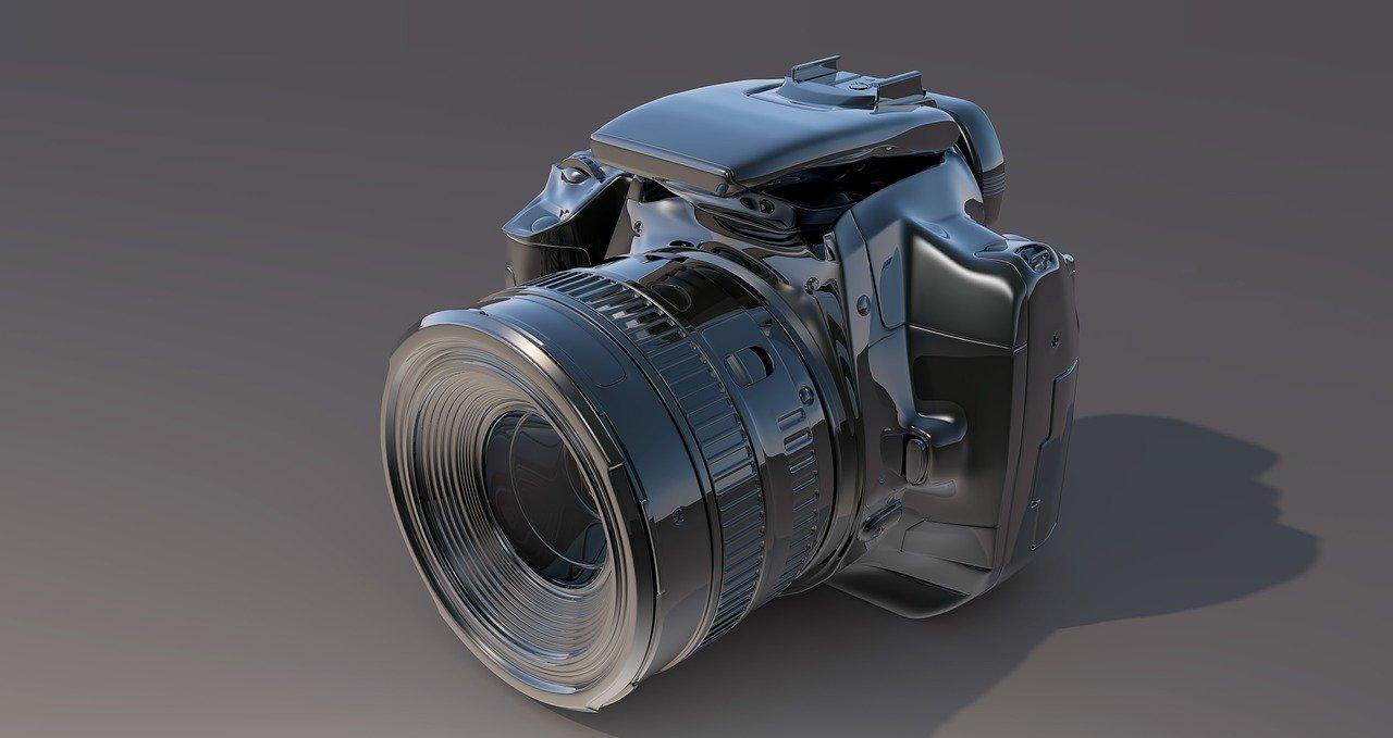 cámara, canon, lente de la cámara