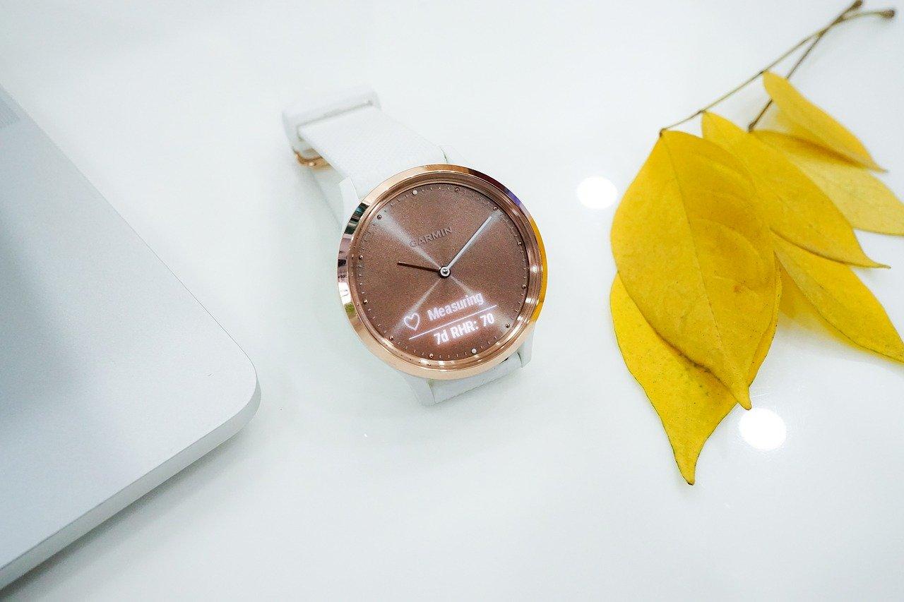 ver, smartwatch, amarillo