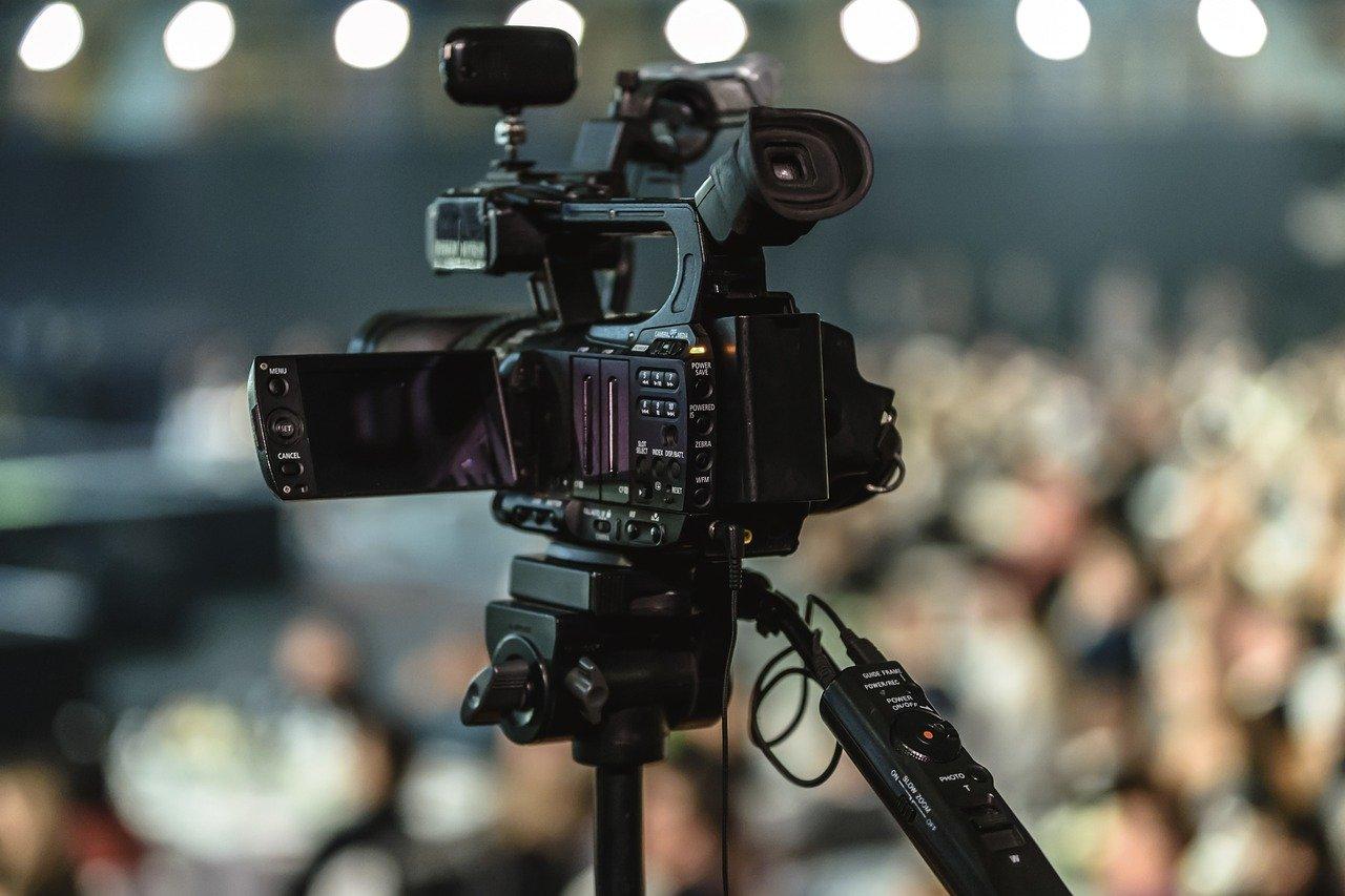 lente, equipo, video