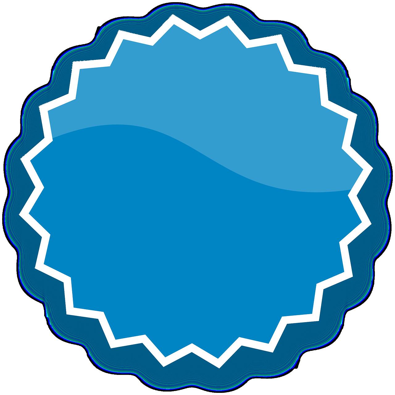 insignia, azul, botón