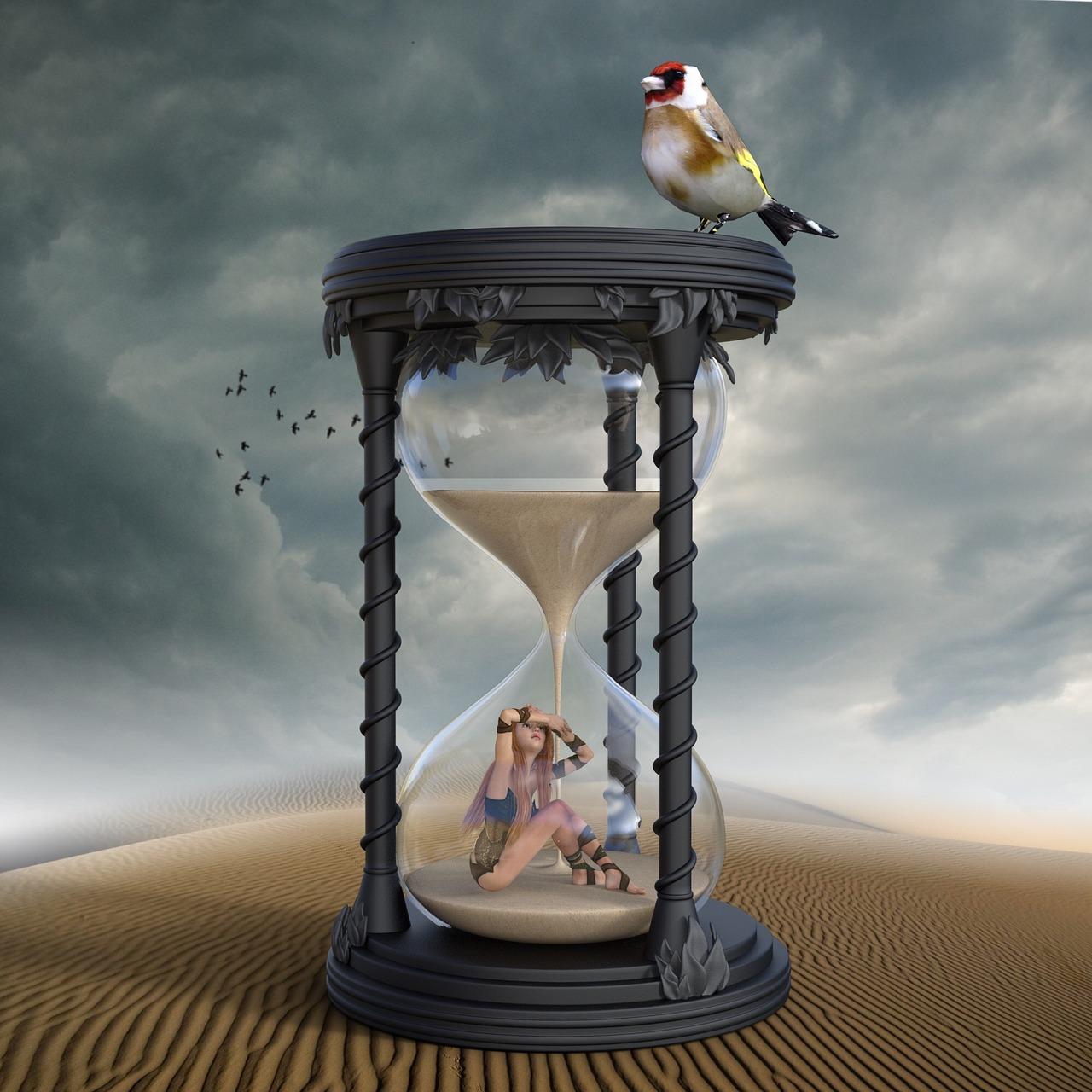 reloj de arena, tiempo, fugacidad