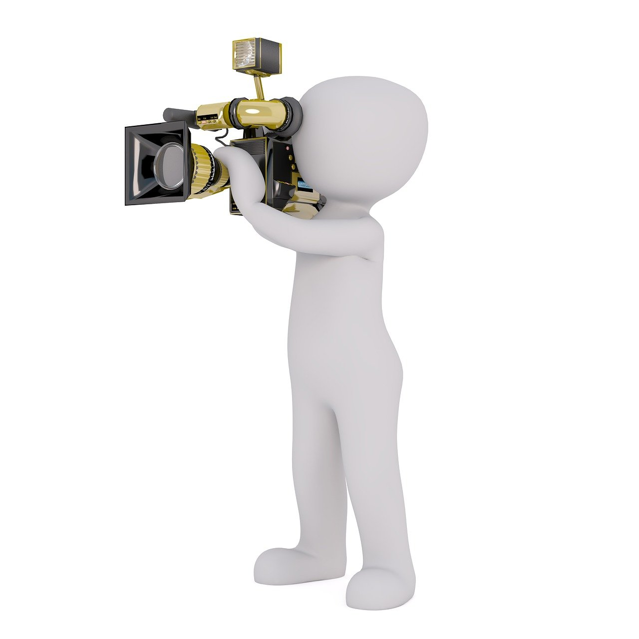 cámara, cámara de vídeo, hombre