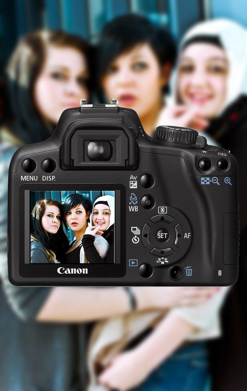 cámara, fotografía, mujeres