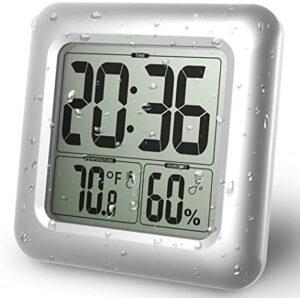 reloj baño digital