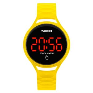 reloj digital amarillo