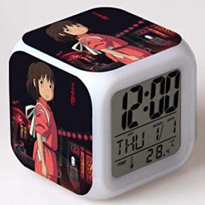 reloj digital iluminado