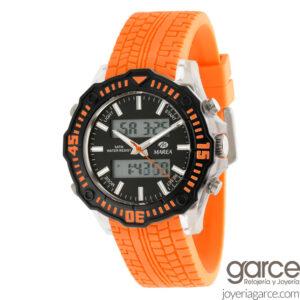 reloj digital naranja