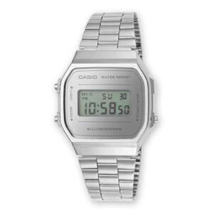 reloj digital plata